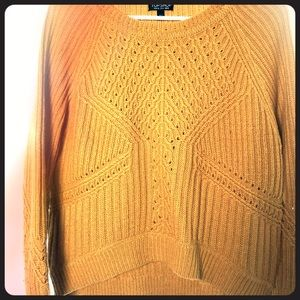 Topshop fall knit sweater. Size 4. Mustard yellow.